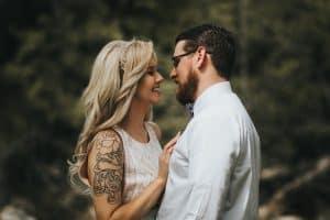 El primer beso al inicio de una relación