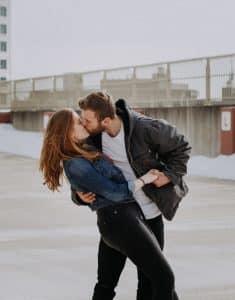 Beso de película