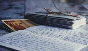 Carta de amor romántica